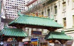 San Francisco Chinatown Gate. Landmark Grant Street gate entrance to San Francisco`s Chinatown. Horizontal Stock Photography