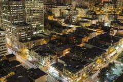 San Francisco Chinatown Night View Royalty Free Stock Image
