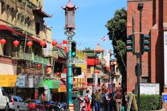 San Francisco Chinatown Stock Photography