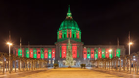 San Francisco during Christmas Stock Image
