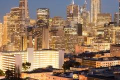 San Francisco Christmas Lights viewed from Russian Hill neighborhood. Stock Photography