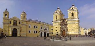 San Francisco Church. Or Monastery and Nuestra Señora de la Soledad Sanctuary. Lima, Peru stock image