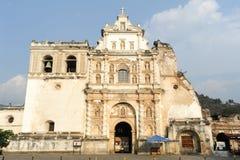 San Francisco church at Antigua. On Guatemala stock images