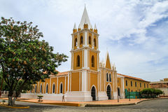 San Francisco Church, Coro, Venezuela. Among the first churches that the Franciscan Order founded in Venezuela, the original church at Coro was part of the Stock Photo