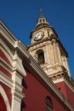 San Francisco Church en Santiago Imágenes de archivo libres de regalías