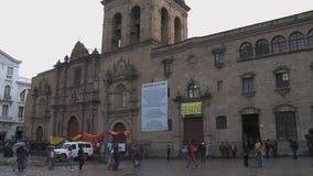 San Francisco Church in La Paz, Bolivia. Main cathedral in the city of La Paz stock video
