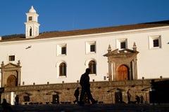 San Francisco Church and plaza in Quito, Ecuador Stock Photography