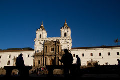 San Francisco Church and plaza in Quito, Ecuador Stock Image