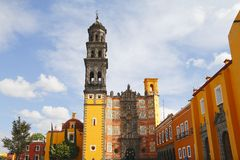 San francisco church in puebla I Royalty Free Stock Photography