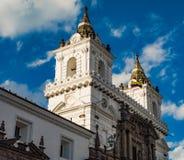 San Francisco church Quito, Ecuador stock images