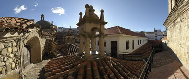San Francisco church roof, La Paz, Bolivia. Royalty Free Stock Photography