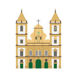 San Francisco Church, Salvador de Bahia, Brazil vector illustration Royalty Free Stock Photography