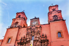 San Francisco Church Templo de San Francisco Guanajuato Mexico Royalty Free Stock Image