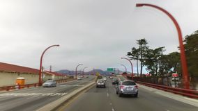 POV Driving on 101 to Golden Gate Bridge stock video footage