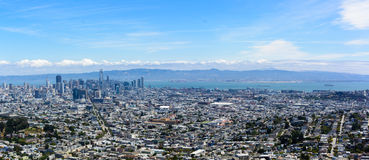 San Francisco city as seen from Twin Peaks stock photography