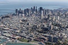 San Francisco City and Bay Aerial Stock Photos