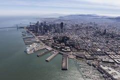 San Francisco City and Bay Aerial Stock Image