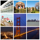 San Francisco city collage Royalty Free Stock Image