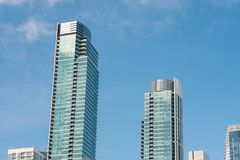 San Francisco City Condo Buildings Fotografering för Bildbyråer