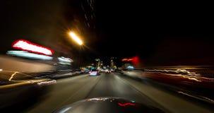 San Francisco City Driving Time Lapse på natten stock video