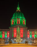 San Francisco City Hall and Christmas Tree Stock Photos