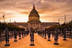 San Francisco City Hall evening mood stock images