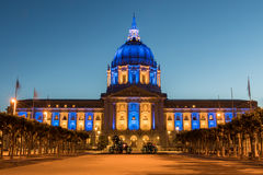 San Francisco City Hall in Golden State Warriors Colors. Royalty Free Stock Photography