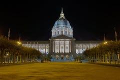 San Francisco City Hall at Night Stock Image