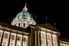 San Francisco City Hall at Night Royalty Free Stock Photos