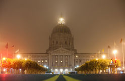 San Francisco city hall at night Royalty Free Stock Photography