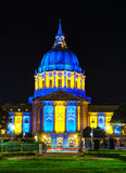 San Francisco city hall at night time Royalty Free Stock Photos