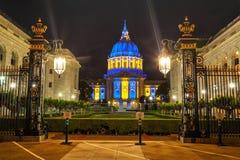 San Francisco city hall at night time Stock Photography