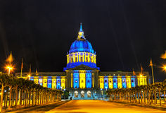San Francisco city hall at night time Stock Images