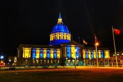 San Francisco city hall at night time Stock Photo
