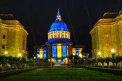 San Francisco city hall at night time Stock Image