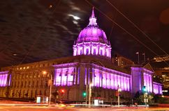 San Francisco City Hall Pays Tribute To Prince Royalty Free Stock Photo
