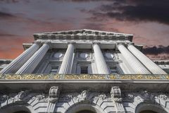 San Francisco City Hall WIth Sunset Sky Royalty Free Stock Photo