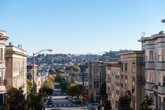 San Francisco city hills view and houses on it Stock Images