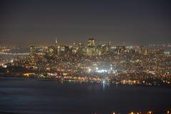 San Francisco city at night, USA Royalty Free Stock Photography