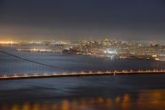 San Francisco city at night, USA Stock Images