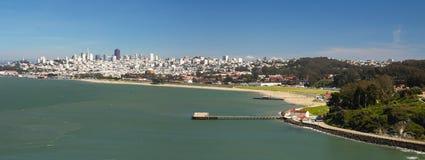 San Francisco city panorama. San Francisco city skyline panorama viewed from Golden Gate bridge Stock Photography
