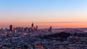 San Francisco City - skyline da cidade de San Francisco fotografia de stock