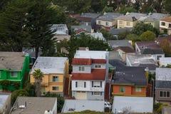 San Francisco City Skyline från tvilling- maxima fotografering för bildbyråer