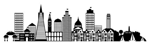 Free San Francisco City Skyline Panorama Clip Art Stock Image - 23999351