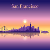 San Francisco city skyline silhouette background Royalty Free Stock Image