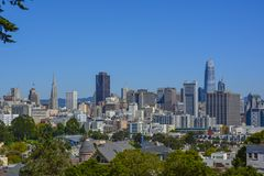 San Francisco city skyline royalty free stock images