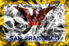 San Francisco city smoke flag, California State, United States O. F America Stock Image