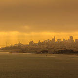 San Francisco city at sun rise Stock Photo