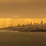 San Francisco city at sun rise Stock Photo
