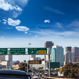 San Francisco city traffic in rush hour with downtown skyline Royalty Free Stock Photography